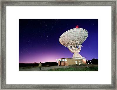 Search For Extraterrestials Framed Print by Photo by cuellar