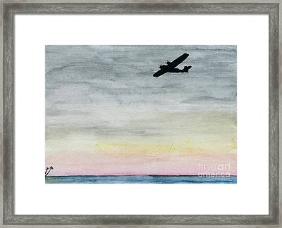 Searching The Tropics - Pby Catalina On Patrol Framed Print by R Kyllo