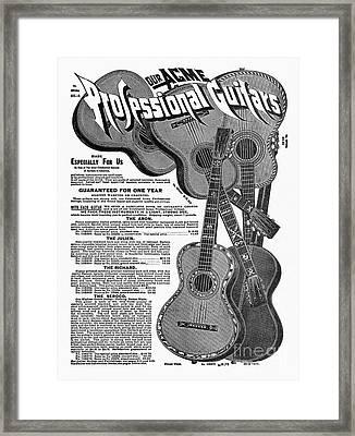 Sears Ad - Guitars 1902 Framed Print by Granger