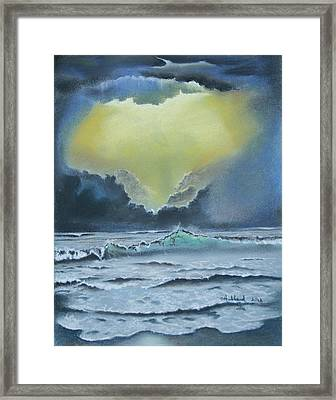 Seascape 2 Framed Print by Charles Hubbard