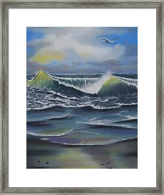 Seascape 3 Framed Print by Charles Hubbard