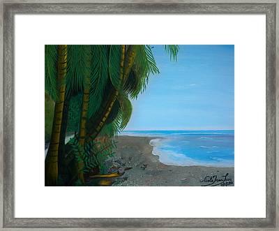 Seascape 3 Framed Print by Nicole Jean-Louis