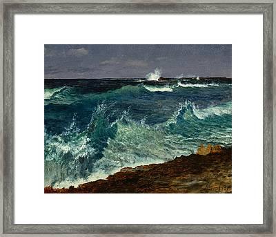Seascape Framed Print by Albert Bierstadt