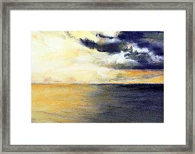 Seascape And Sky Framed Print by Jon Shepodd