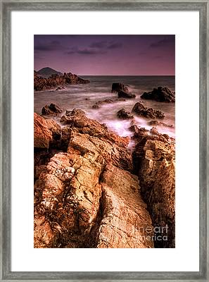 Seascape Framed Print by Buchachon Petthanya