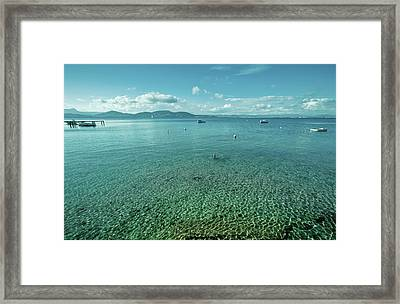 Seascape From Harbour Framed Print by Alexandre Fundone