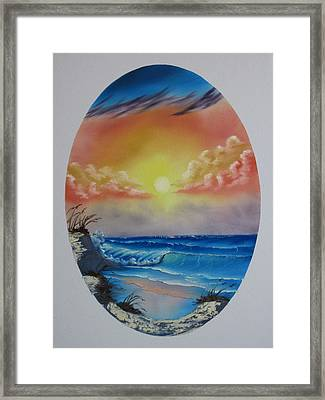 Seascape  Framed Print by Kevin Hill
