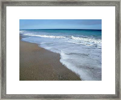 Seascape Wrightsville Beach Nc  Framed Print