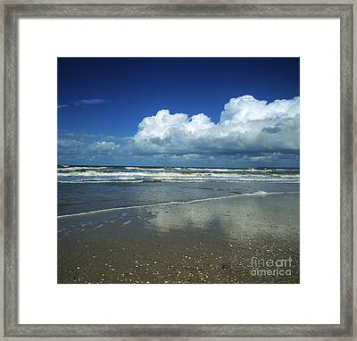 Seascape.normandy.france Framed Print by Bernard Jaubert