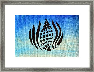 Seashell No.1 Framed Print by Georgia Fowler