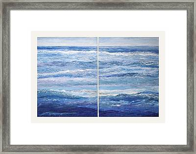 Seashore Diptych Framed Print by Meg Black