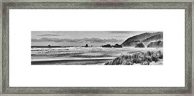 Seaside By The Ocean Framed Print
