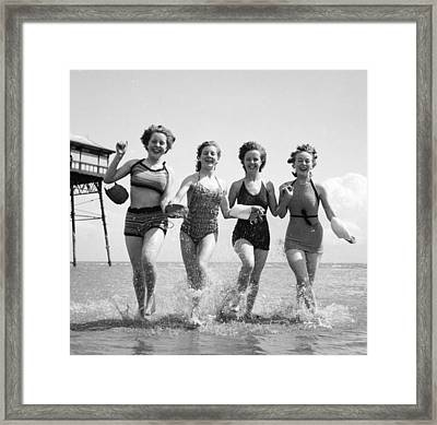 Seaside Fun Framed Print by Chaloner Woods
