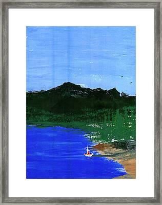 Seaside Framed Print by Harry Richards