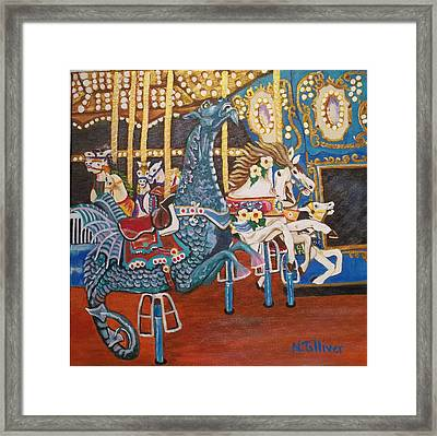 Seaside Heights Carousel Framed Print by Norma Tolliver