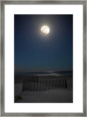 Seaside Moonset Framed Print