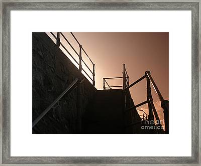 Framed Print featuring the photograph Seaside Railings by Terri Waters