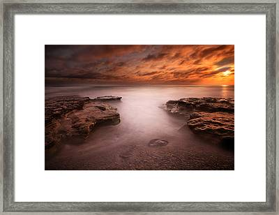Seaside Reef Sunset 3 Framed Print
