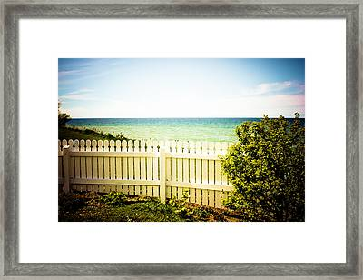 Seaside Retreat Framed Print by Sara Frank