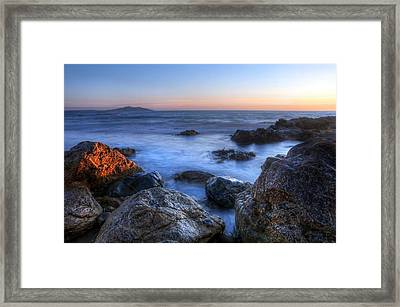 Seaside Rocks Framed Print by Svetlana Sewell