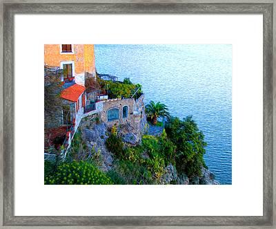 Seaside Villa Amalfi Framed Print by Bill Cannon