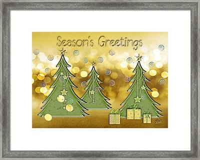 Season's Greetings Framed Print by Arline Wagner