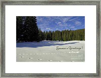 Season's Greetings Austria Europe Framed Print by Sabine Jacobs