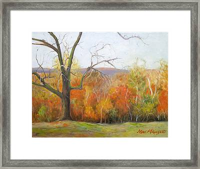 Seasons Pass Framed Print by Max Mckenzie