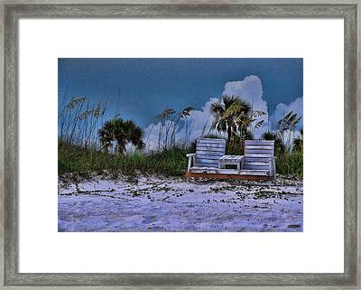 Seat On The Dunes Framed Print
