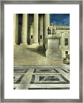 Seated Figure And Columns I Framed Print