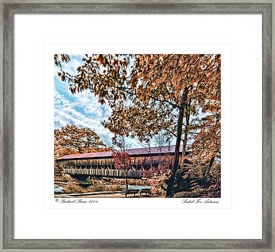 Framed Print featuring the photograph Seated For Autumn by Richard Bean