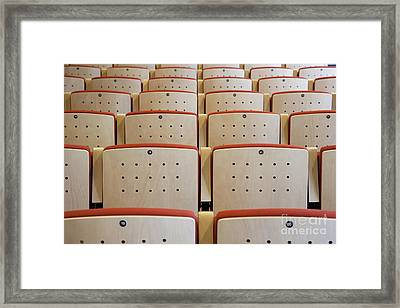 Seating In A Traditional Music Center Framed Print by Jaak Nilson