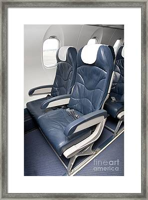 Seats On An Airliner Framed Print