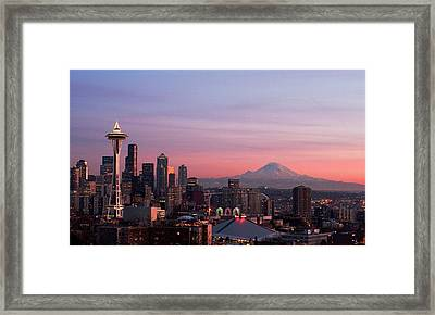 Seattle Framed Print by Aaron Morris