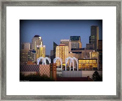 Seattle Air Framed Print by Benjamin Thompson