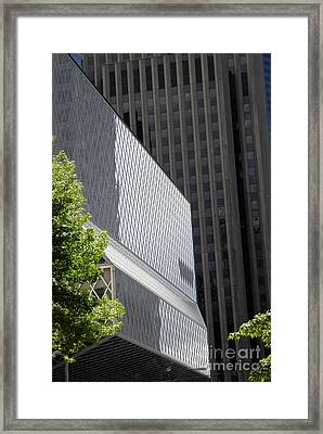 Seattle Central Library Framed Print by Ed Rooney