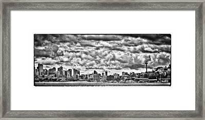 Seattle Cityscape II Framed Print by David Patterson