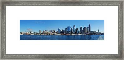 Seattle Downtown Skyline Framed Print by Twenty Two North Photography