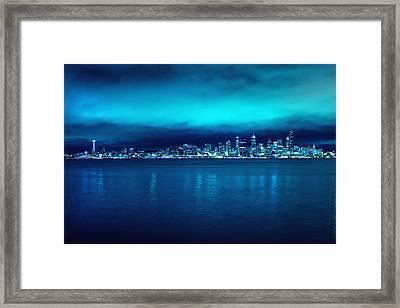 Seattle From Alki Framed Print