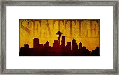 Seattle Framed Print by Ricky Barnard