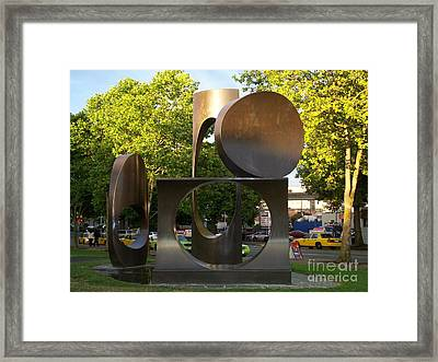 Framed Print featuring the photograph Seattle Sculpture by Chalet Roome-Rigdon