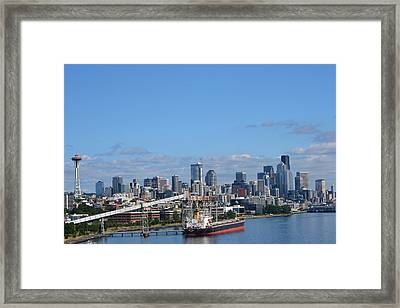 Seattle Skyline 1 Framed Print