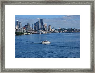Seattle Skyline 2 Framed Print