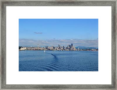 Seattle Skyline 3 Framed Print