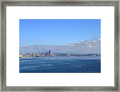 Seattle Skyline 4 Framed Print