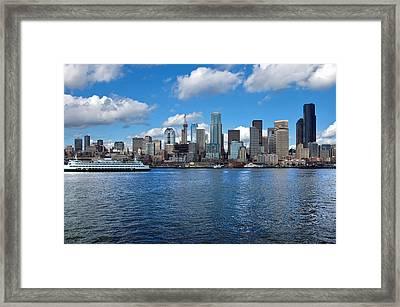 Seattle Skyline Framed Print by Richard Leon