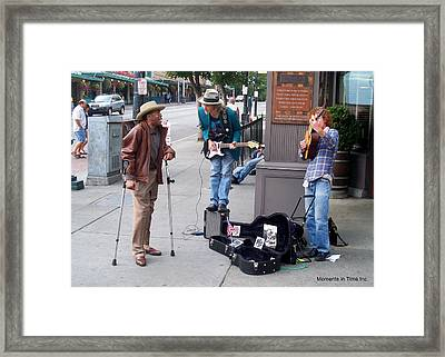 Seattle Street Music Framed Print