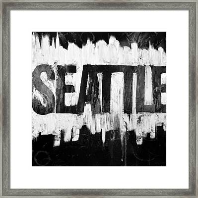 Seattle Wa Framed Print by Cat Jackson