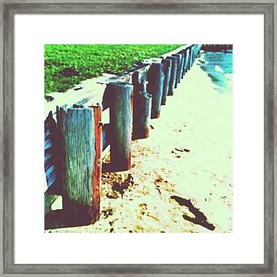 #seawall #mobilebay #beautiful Framed Print
