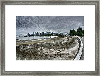 Framed Print featuring the photograph Seawall To Vancouver by Scott Holmes
